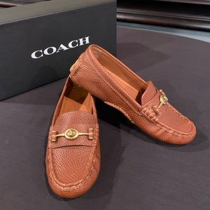 Brand New COACH Closed Toe Loafers, Size 5